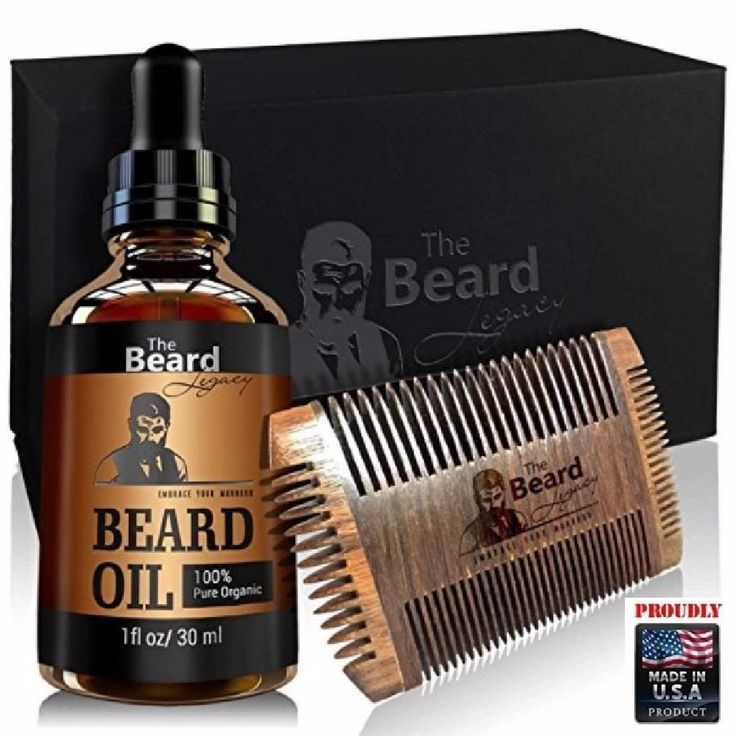 Beard Growth Oil ALL Natural growing Promote Softens Hair & Stop Itching & Comb #TheBeardLegacy
