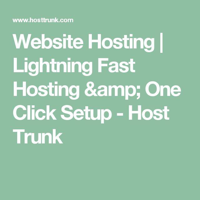 Website Hosting | Lightning Fast Hosting & One Click Setup - Host Trunk