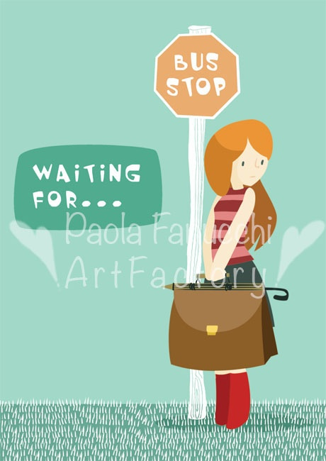 Waiting for... - digital illustration - fall 2012