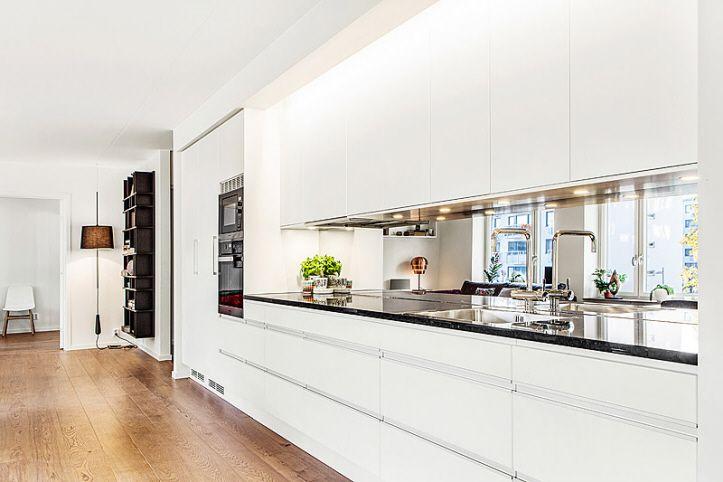 Modernt kök, Riksbyggens Brf Landmärket i Sundbyberg