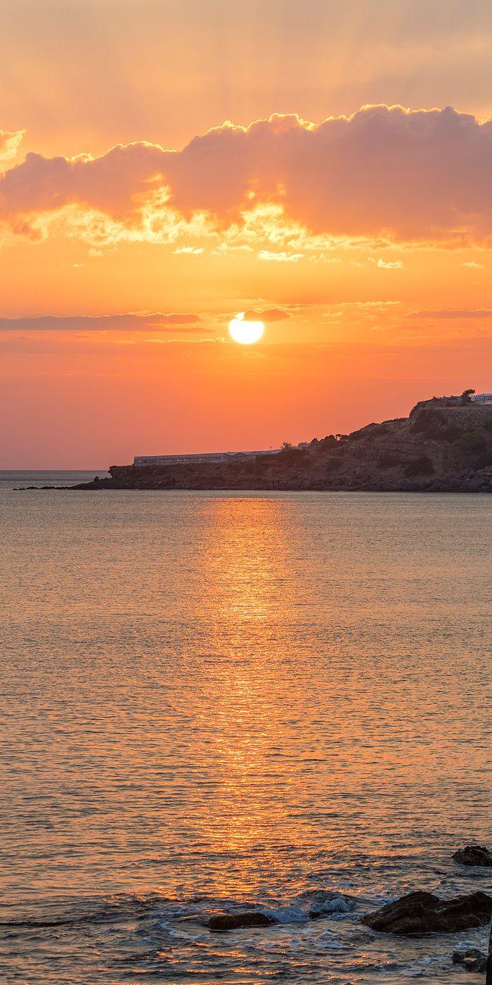 Sunset in Makrigialos, Crete