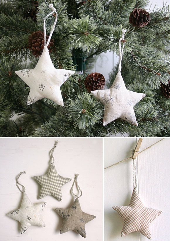 sewing {pattern} star ornaments