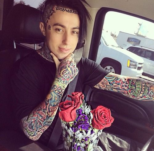 Ronnie Radke lead singer of Falling in reverse! I love him! Sweet tattoos.