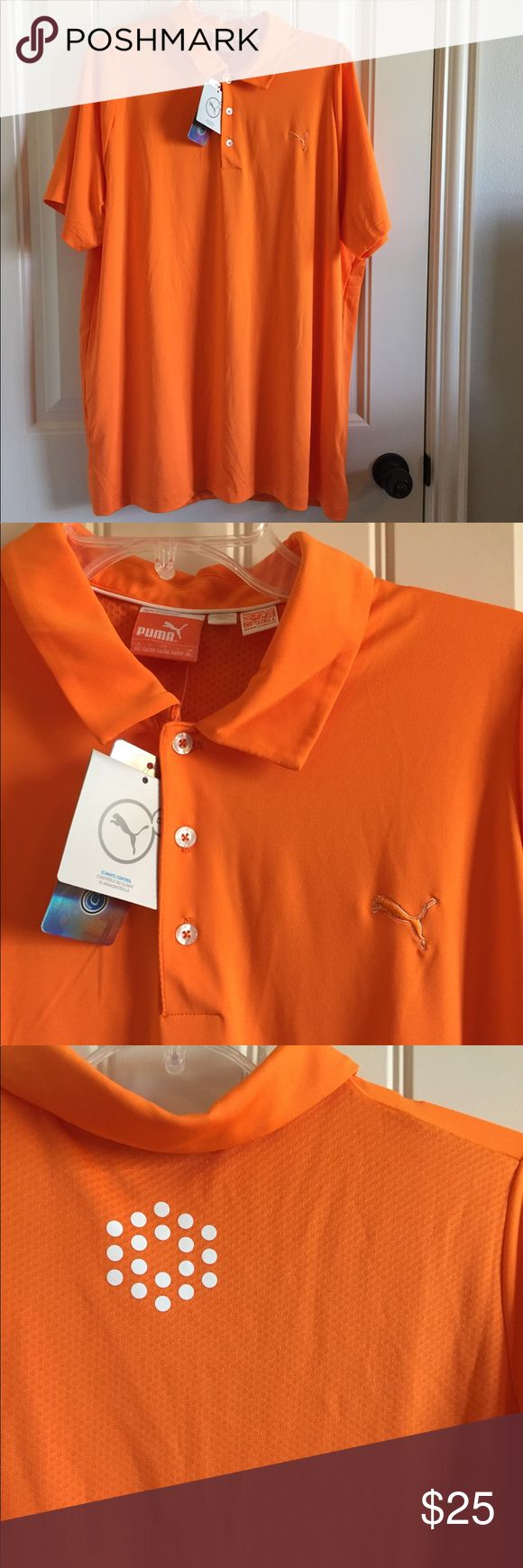 NWT Men's Puma Polo Size XL Great for golf or casual business dress. Smoke free home. Puma Shirts Polos