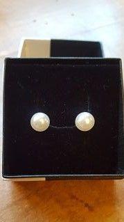 pendientes perlas y plata de ley, complementos de moda