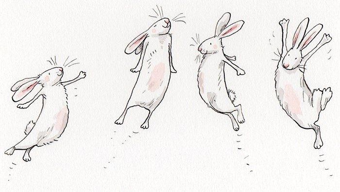 Как, нарисовать смешного кролика