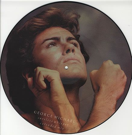 "For Sale -George Michael Careless Whisper - Black Rimmed UK 12"" vinyl picture disc 12inch picture disc record- See this and 250,000 other rare and vintage records & CDs at http://eil.com/"