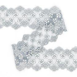 Encaje de tul Inserto (55 mm) 3 – gris