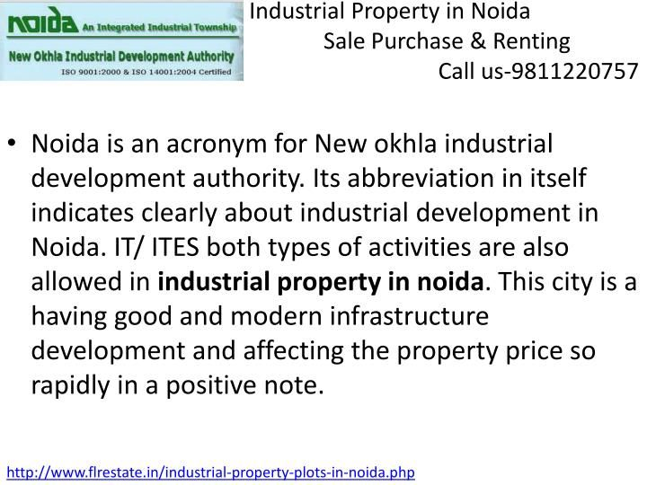 PPT - Industrial Property In Noida 9811220757, IT Plot for Sale Bu PowerPoint Presentation