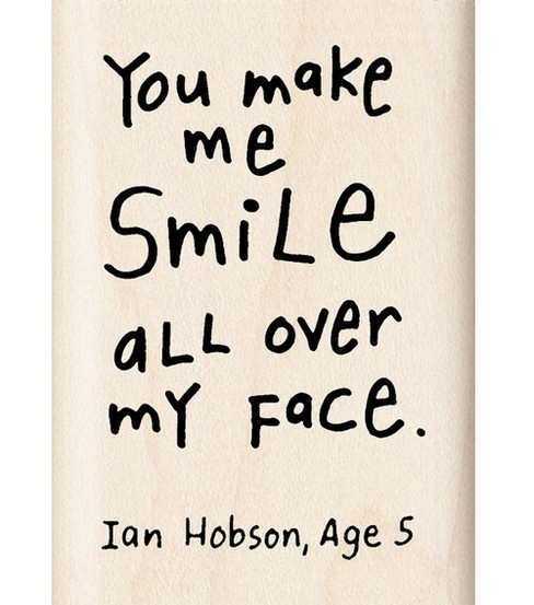 You Make Me Smile All Over My Face. Ian Hobson, Age 5
