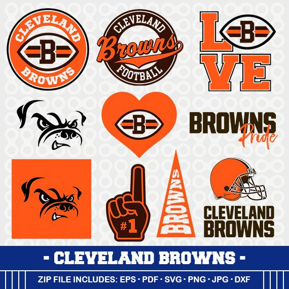 Cleveland Browns SVG, Brwons Football, Svg Cameo, DXF File, Cleveland Browns, Monogram, Svg Cameo, Browns Clipart, SVG-22