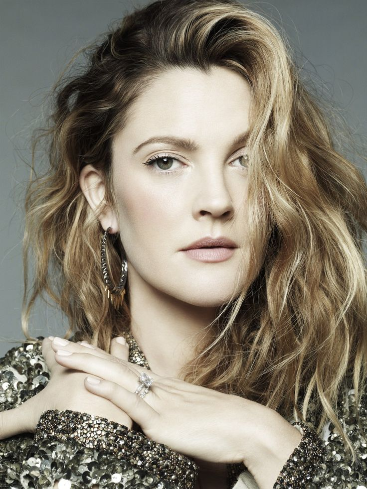 Drew Barrymore // I've always loved her color.
