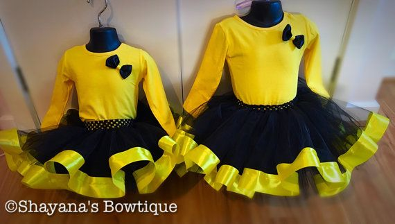 Black & Yellow Tutu Set by Shayana06 on Etsy