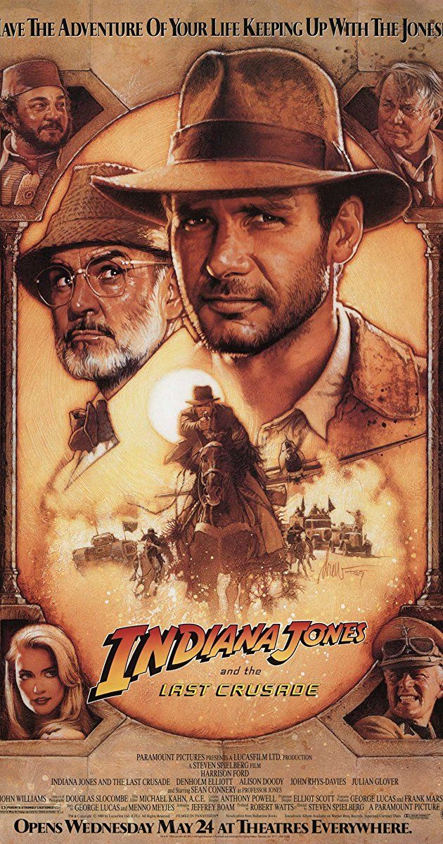 "Directed by Steven Spielberg.  With Harrison Ford, Sean Connery, Alison Doody, Denholm Elliott. When Dr. Henry Jones, Sr. suddenly goes missing while pursuing the Holy Grail, eminent archaeologist Dr. Henry ""Indiana"" Jones, Jr. must follow in his father's footsteps to stop the Nazis from getting their hands on the Holy Grail first."