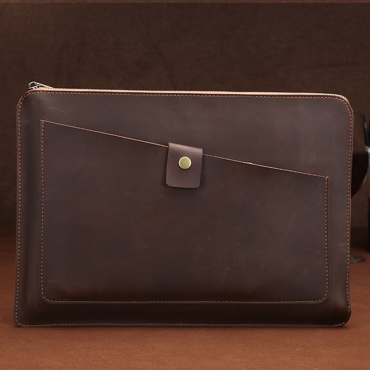 Waterproof genuine cowhide leather 13-inch 15-inch Macbook air ipad inner liner tablet protective jacket A4 document bag