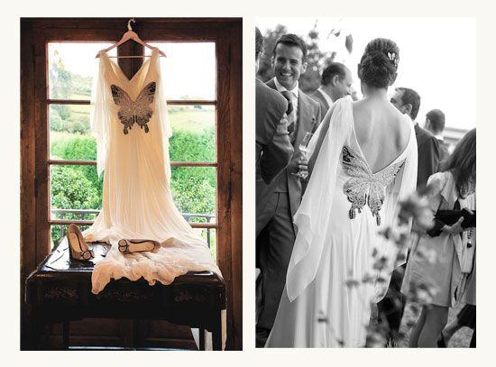 Vestido de Covadonga Plaza. Si te gusta, mira con qué detalles tan especiales contó esta boda. http://happywedding.blogs.elle.es/2012/02/29/308/