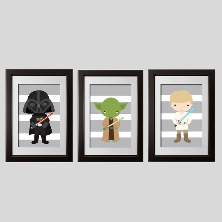 star wars decor, starwars yoda, darth and luke  characters wall art digital files, printable, instant download, star wars baby showerart by AmysDesignShoppe on Etsy https://www.etsy.com/listing/256000226/star-wars-decor-starwars-yoda-darth-and