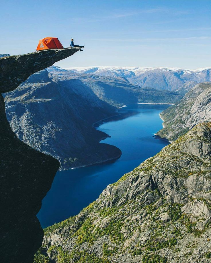 """""""Lets go camping on Trolltunga! Who would you go with? Tag them below 