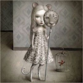 La Marelle `Kaart Nicoletta Ceccoli Hide and Seek`