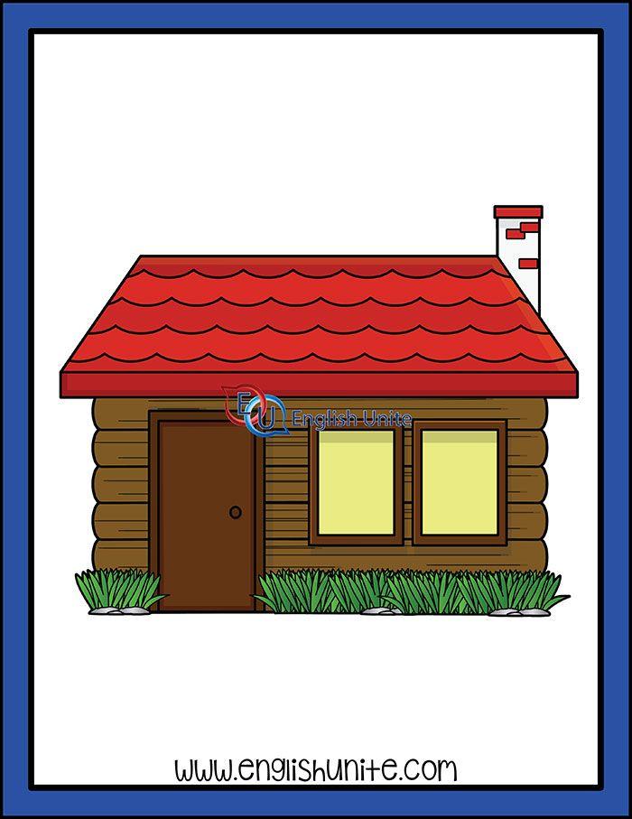 Red Riding Hood Grandma S House English Unite Grandmas House Red Riding Hood Clip Art