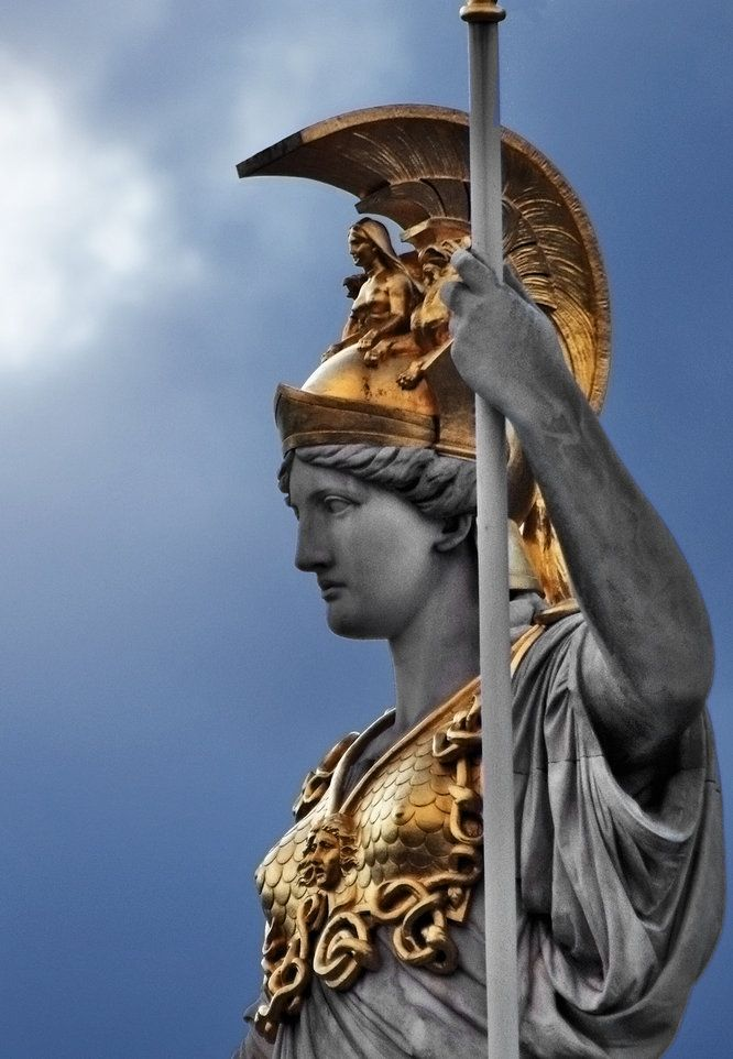 Pallas Athene  Athena Fountain, Austrian Parliament, Vienna, Austria.  (Photo by Alexander Bartek)