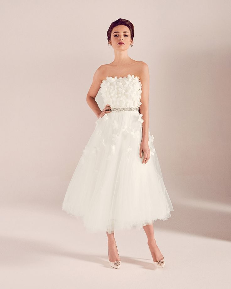 This Ted Baker wedding dress is amazing and would fit in perfectly with the theme  #wedwithted @tedbaker Embellished belt - Ivory | SS17 Tie The Knot | Ted Baker UK