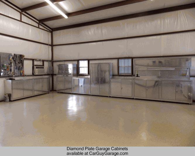 Good Http://www.carguygarage.com Diamond Plate Garage Cabinets | Car Guy Garage  Photos | Pinterest | Garage Workshop And House