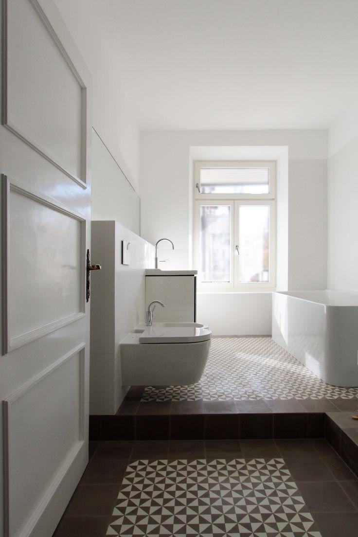 Zementfliesen Geometrisches Muster Von Via Bader Mit Via Platten Badgestaltung Badgestaltung Deko Badgestaltung Kleines Bad