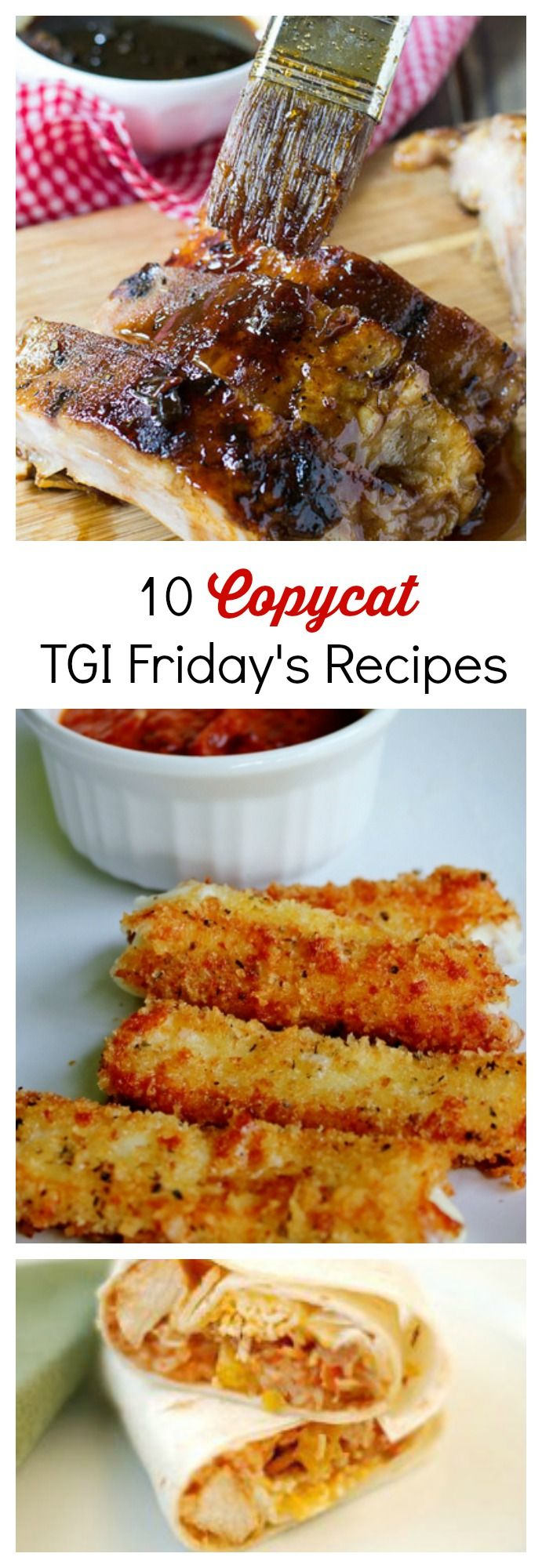 Eat like it's Friday every day with these 10 Copycat TGI Friday's recipes! From dinners to appetizers to desserts, these are all the best Fridays menu items that you can make at home!