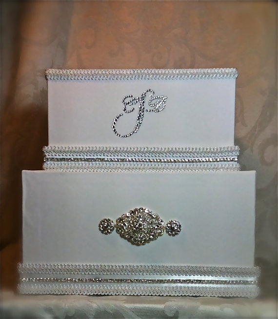 monogram wedding card box wedding box reception by wrapsodyandink 12200
