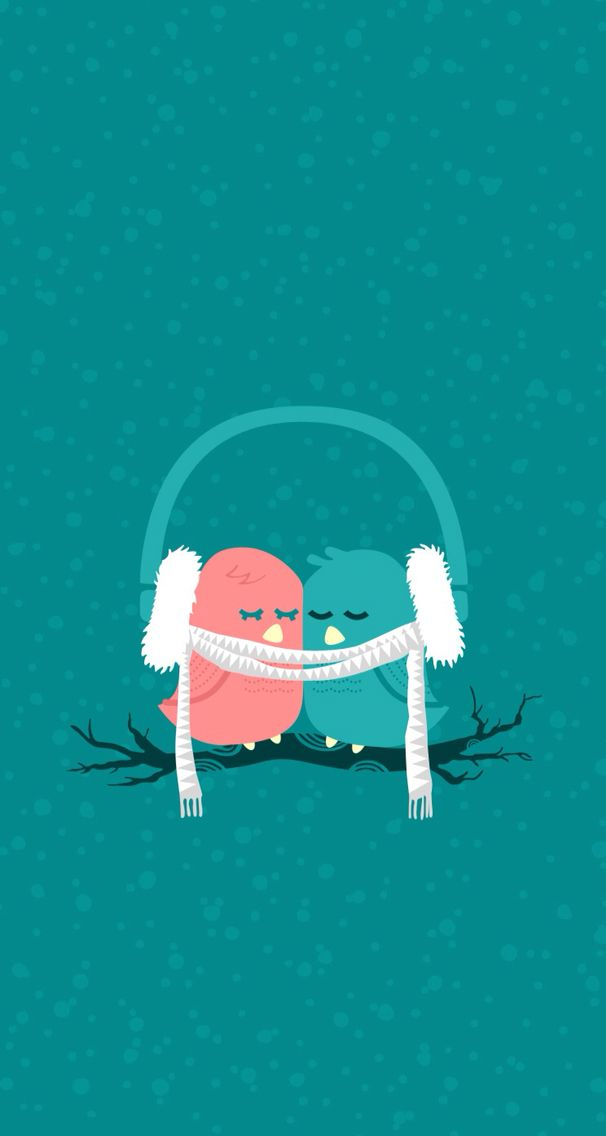 Cute Birds Download More Winter Themed IPhone Wallpapers At Prettywallpaper