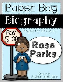 pictures of rosa parks rosa parks pictures rosa  paper bag biography rosa parks a project for grades 1 2