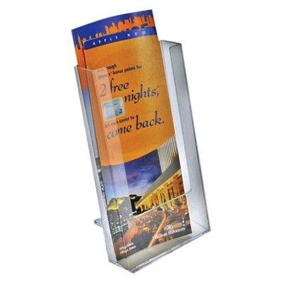 Azar Modular Trifold Brochure Holder 10ct, Clear