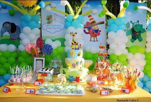 Mesa de dulces baby tv