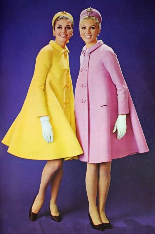 Pastel yellow and pink by Michel Goma for Jean Patou, photo Jacques Rouchon, 1966