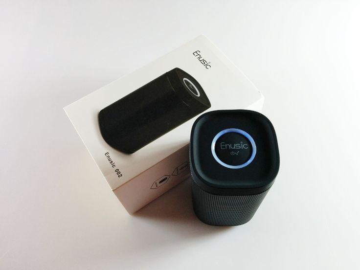 Test / Review des Enusic 002 Bluetooth Lautsprechers. Ein zylinderförmiger Designer Lautsprecher mit 270° Wiedergabe des chinesischen Herstellers Enusic...