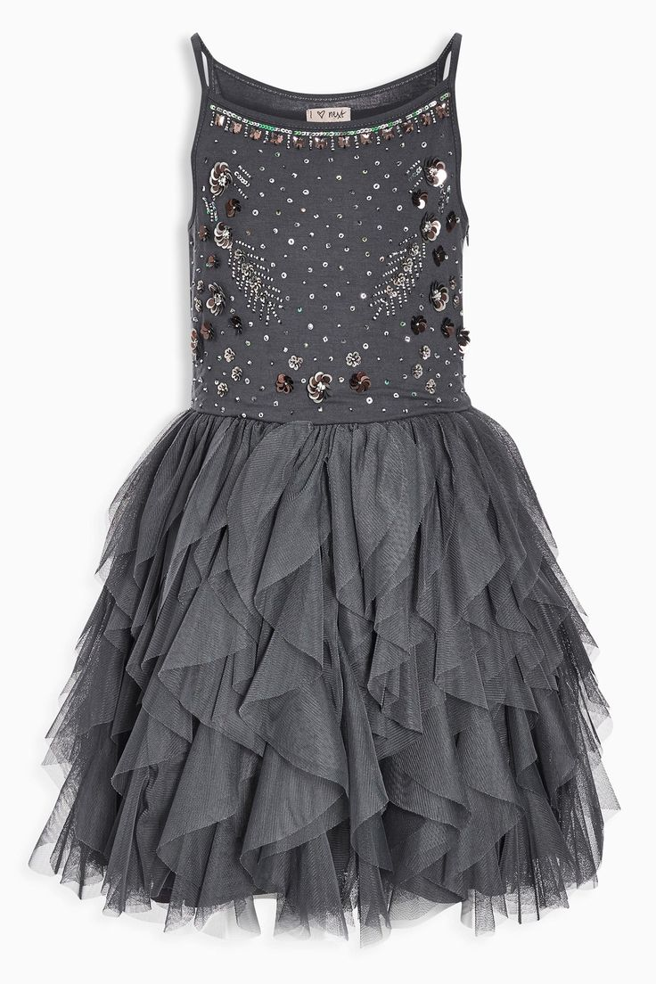 Next online party dresses - Buy Grey Sparkle Dress 3 16yrs From The Next Uk Online Shop