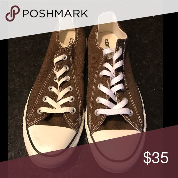 Brown Converse Brown Converse! Never worn! Men's 8 or Women's 10! Converse Shoes Sneakers