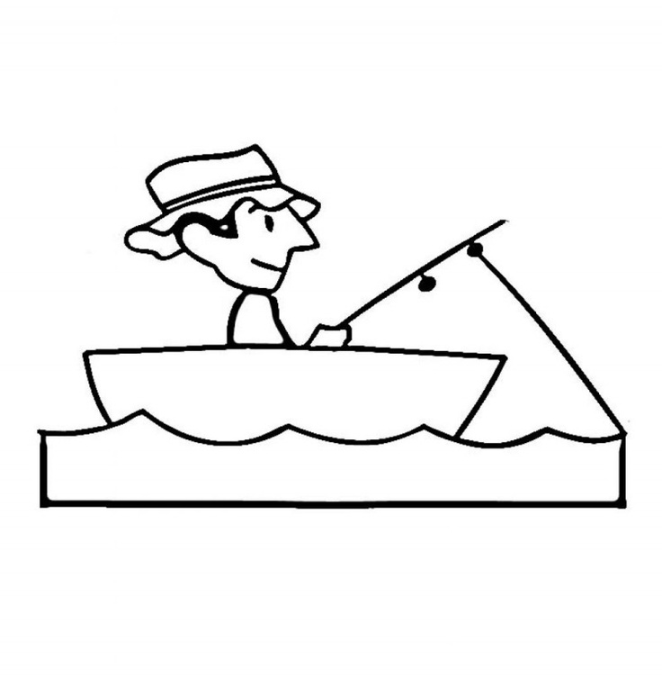 Printable Fishing Boat Coloring Pages For Kids