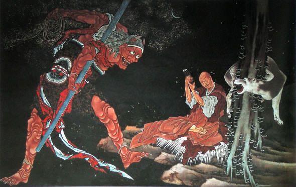 弘法大師修法図(1844〜47年ごろ) 葛飾北斎 83〜86歳ごろ