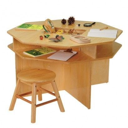 Children s Discovery Table with 4 Classroom Stools