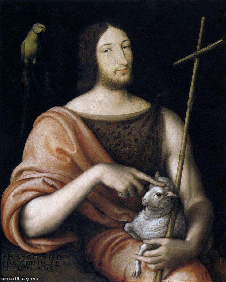 http://smallbay.ru/artfrance/images/clouet_03.jpg Портрет Франциска I в образе Иоанна Крестителя, 1538 г.