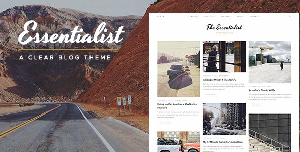 Essentialist is a WordPress blog theme with a narrative spirit and clean uncluttered aesthetics. It is intended for visual storytelling and photoblogging. Due to its eclectic looks, this WordPress theme can be as good for a magazine or a journal as it is for a personal blog. Be it a lifestyle blog, a travel journal, a travelogue, a music band blog, an art blog, a photography blog, a curator's blog, a writer's journal, a food blog etc. #food #blog #design #inspiration #theme