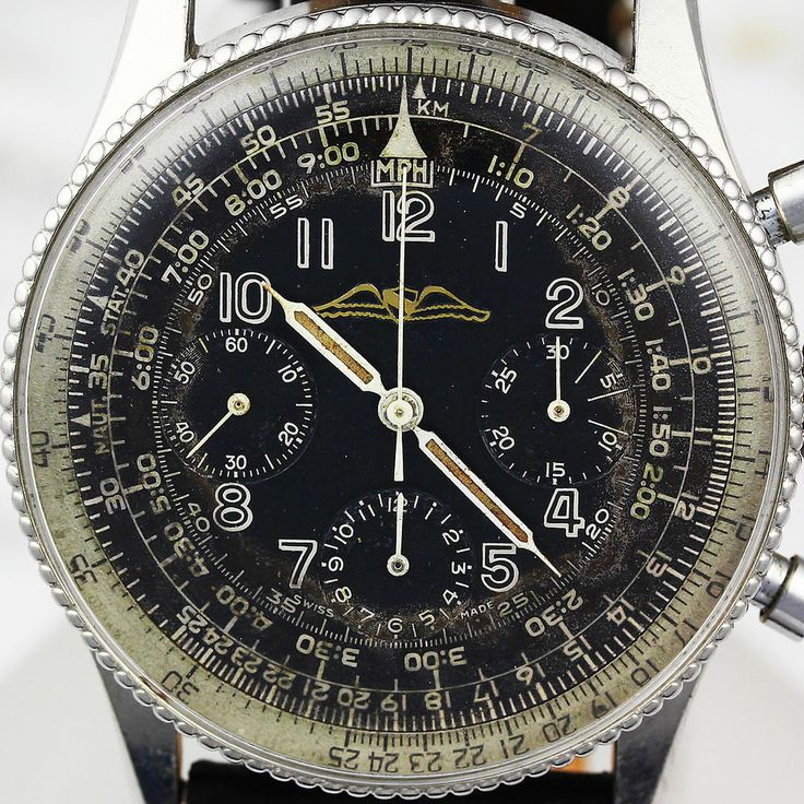 Vintage Breitling AOPA 806 Chronograph circa 1959 with Venus 178 Mvmt