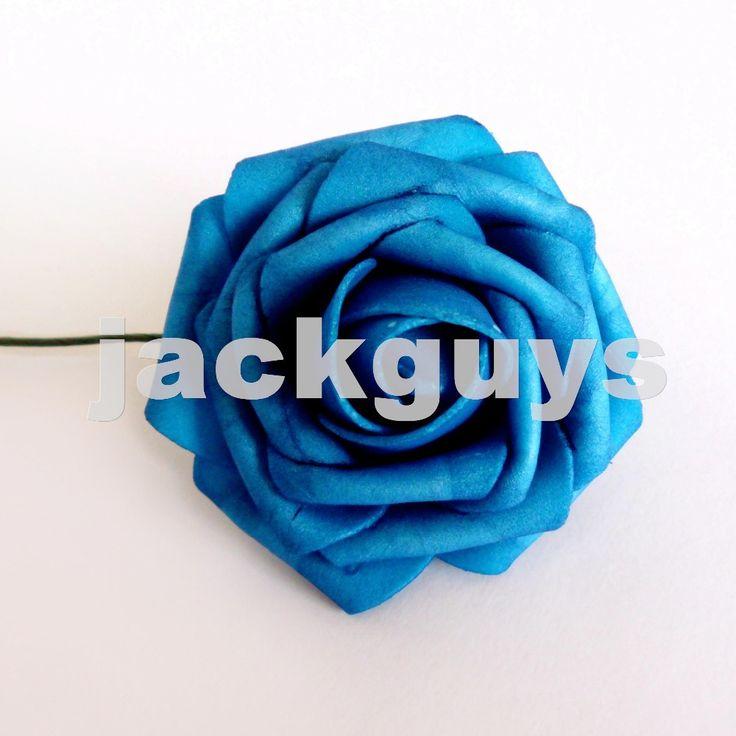 Ну вечеринку свадебный букет центральные искусственный пенополиэтилен розы цветы наручные розы цветы главная цветочный декор темно-синий 50 шт.
