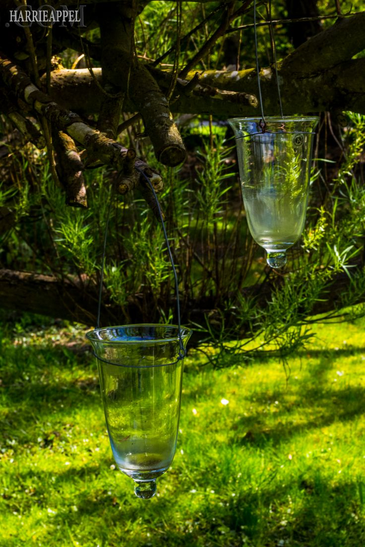 The Outdoor Hanging Glass Candle Holders ✴✴✴ My Sanctuary Posted on February 22, 2014 by Harrie Appel via www.harrieappel.com