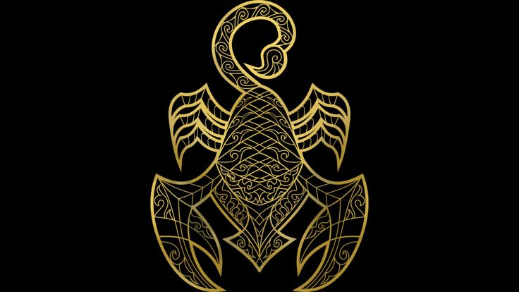 Golden Scorpio is a T Shirt designed by griffin45nn9z to illustrate your life and is available at Design By Humans
