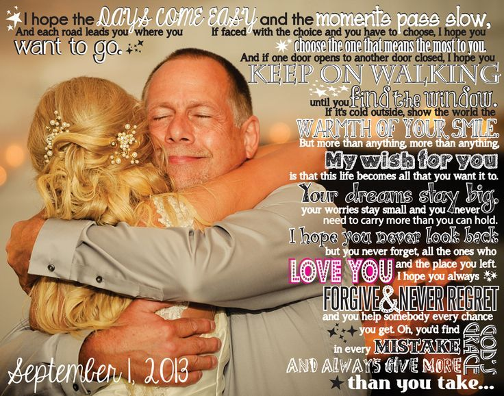 A custom picture canvas of the father daughter wedding dance with the lyrics to your song! What a great gift for Dad :)