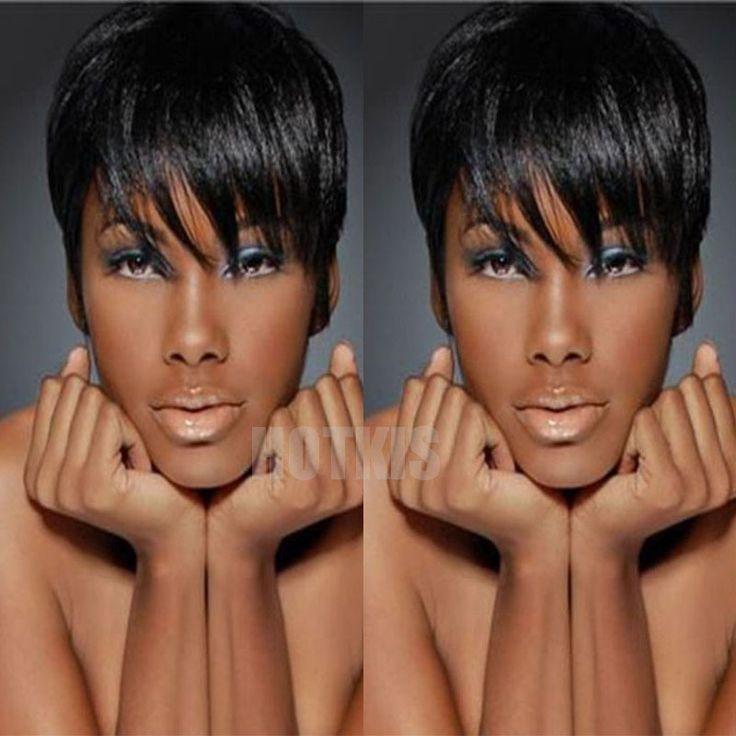 100% Human Hair Wigs Glueless Short Hair Wigs Brazilian Hair Black Hair Wigs For Women