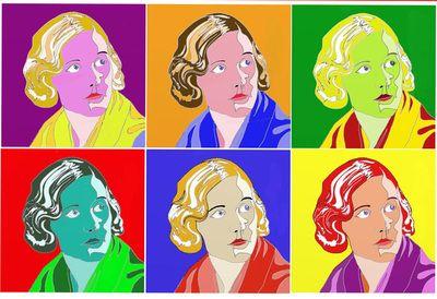 Digital Art - John Steadman's Art   Unity Valkyrie Mitford (1914 -1948) - created using binary code 2014